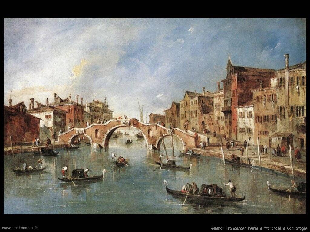 guardi francesco Il ponte a tre arcate a Cannaregio