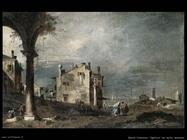guardi francesco Capriccio con motivi veneziani