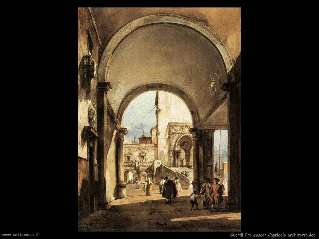 guardi francesco  Capriccio architettonico