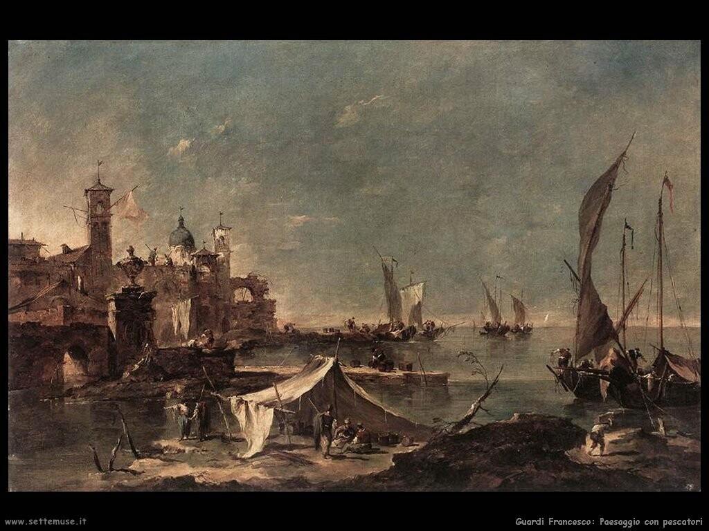 guardi francesco Paesaggio con pescatore