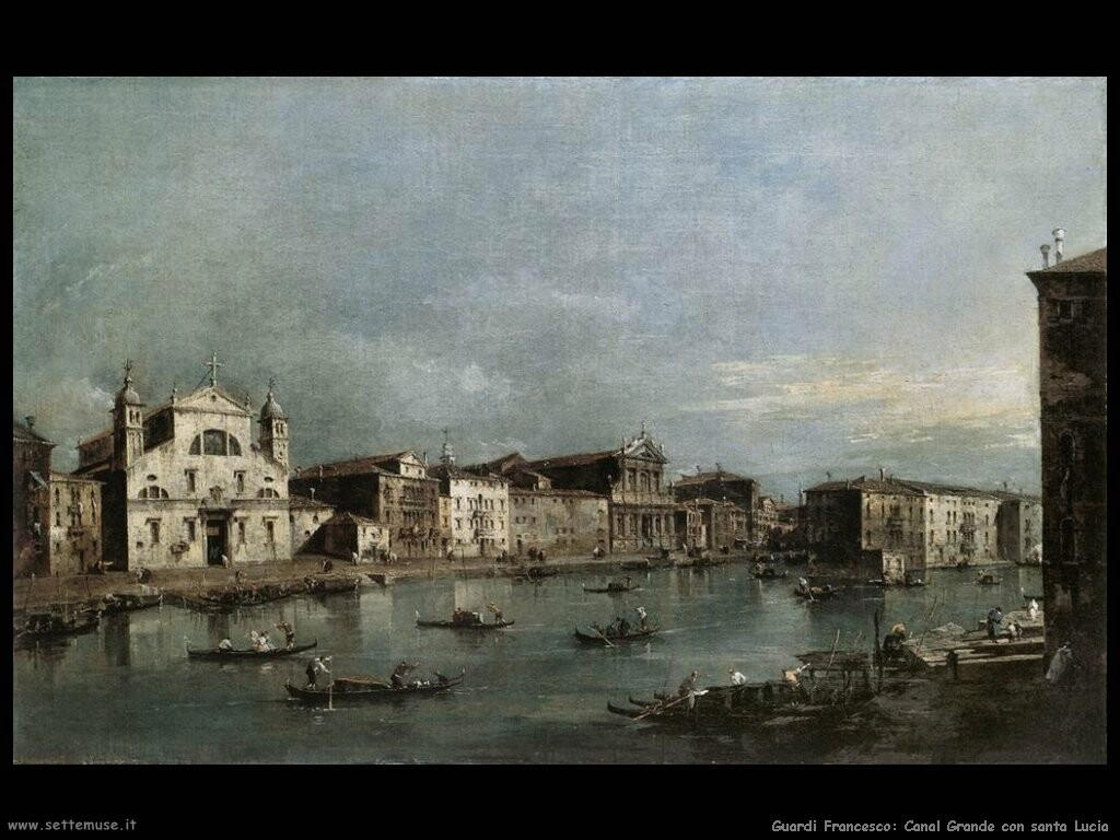 guardi francesco Il Canal Grande con Santa Lucia