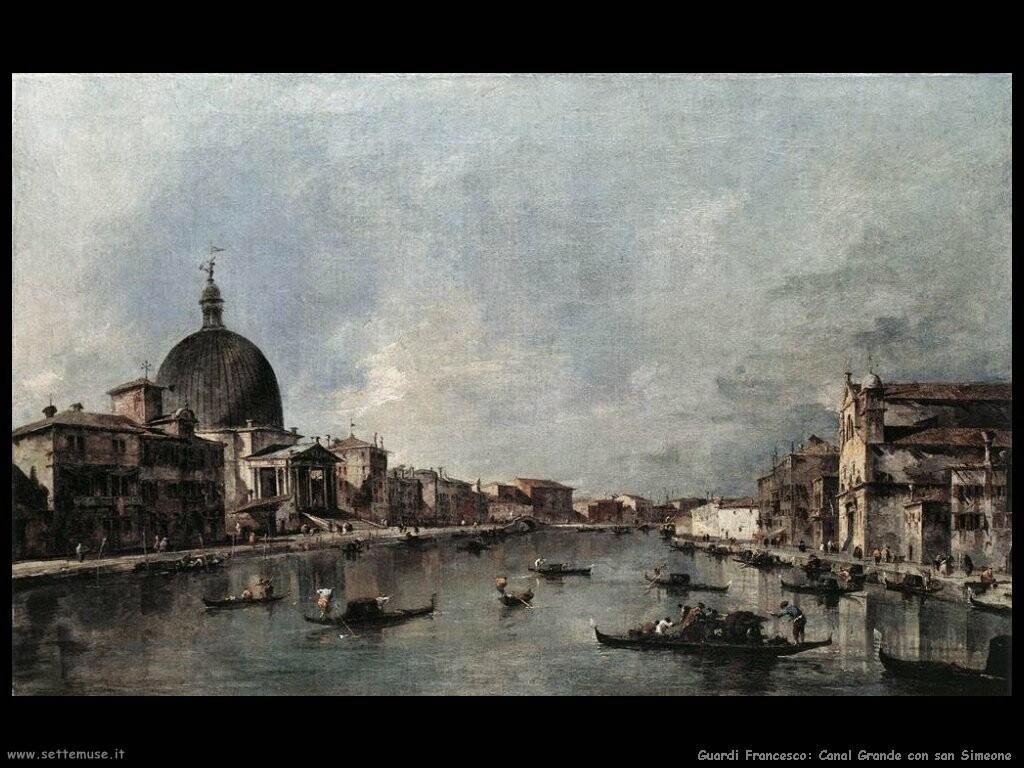 guardi francesco  Canal Grande con san Simeone