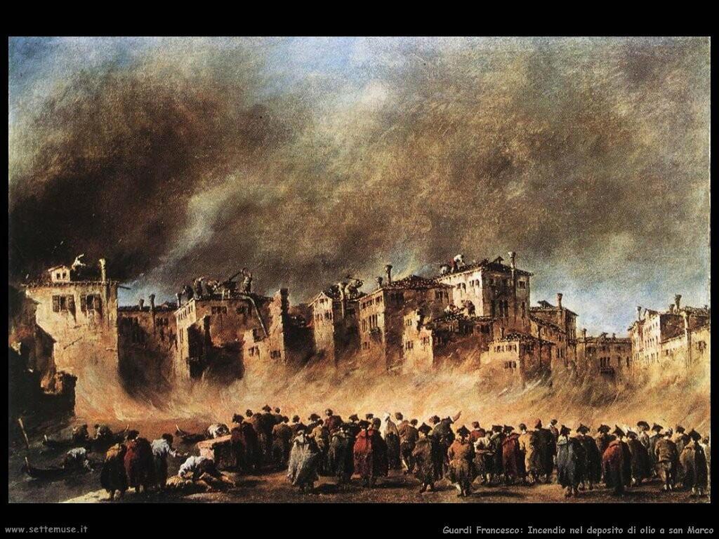 guardi francesco   Incendio al deposito dell'olio a san Marco