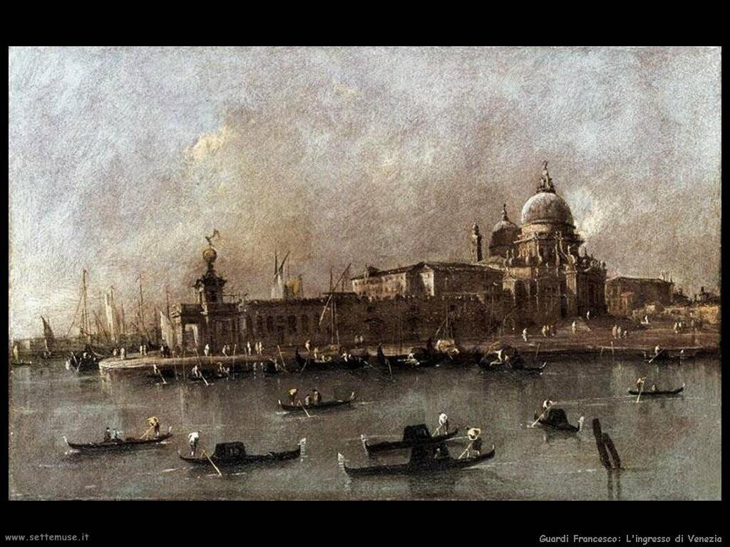 guardi francesco  Venezia, vista dall'ingresso