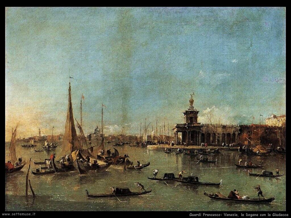 guardi francesco  Venezia, la dogana con la Giudecca