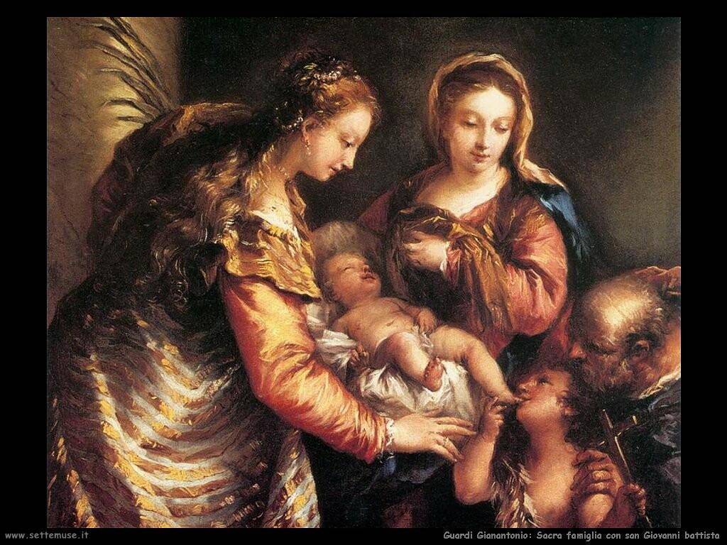 guardi gianantonio Sacra famiglia con san Giovanni battista
