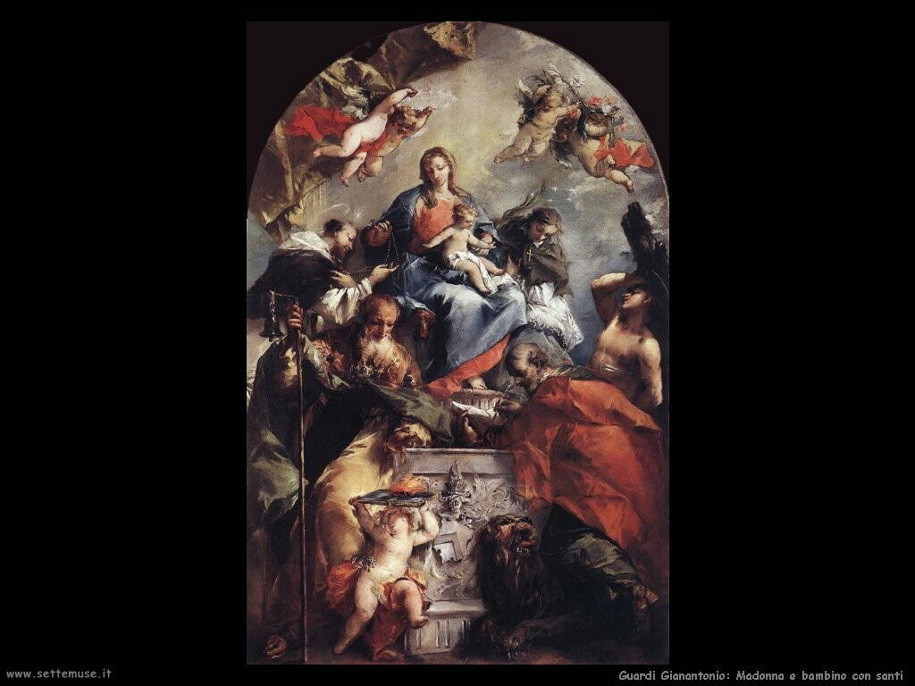 guardi gianantonio Madonna con bambino e santi