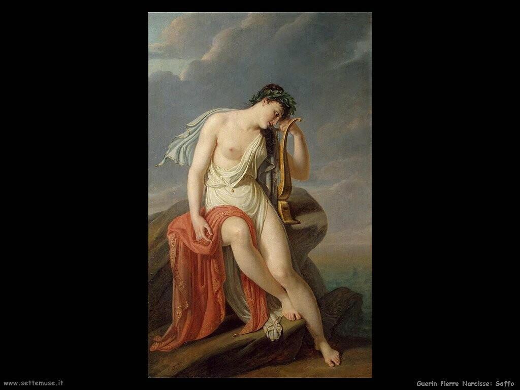guerin pierre narcisse  sappho sulla rupe Leucade