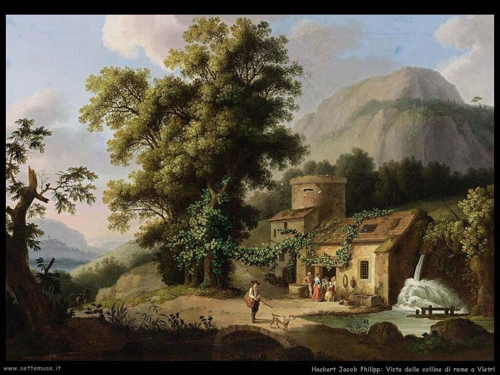 hackert jacob philipp Vista delle colline di rame a Vietri