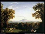 hackert jacob philipp Paesaggio col palazzo di Caserta e il Vesuvio