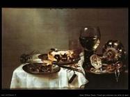 heda willem claesz  Tavolo della colazione con torta di more