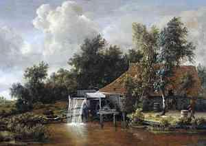 Pittura di Hobbema Meyndert