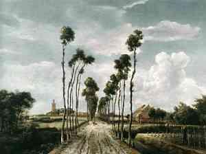 Dipinto di Hobbema Meyndert