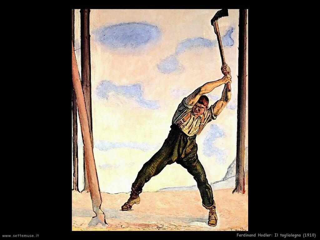 ferdinand hodler il taglialegna 1910