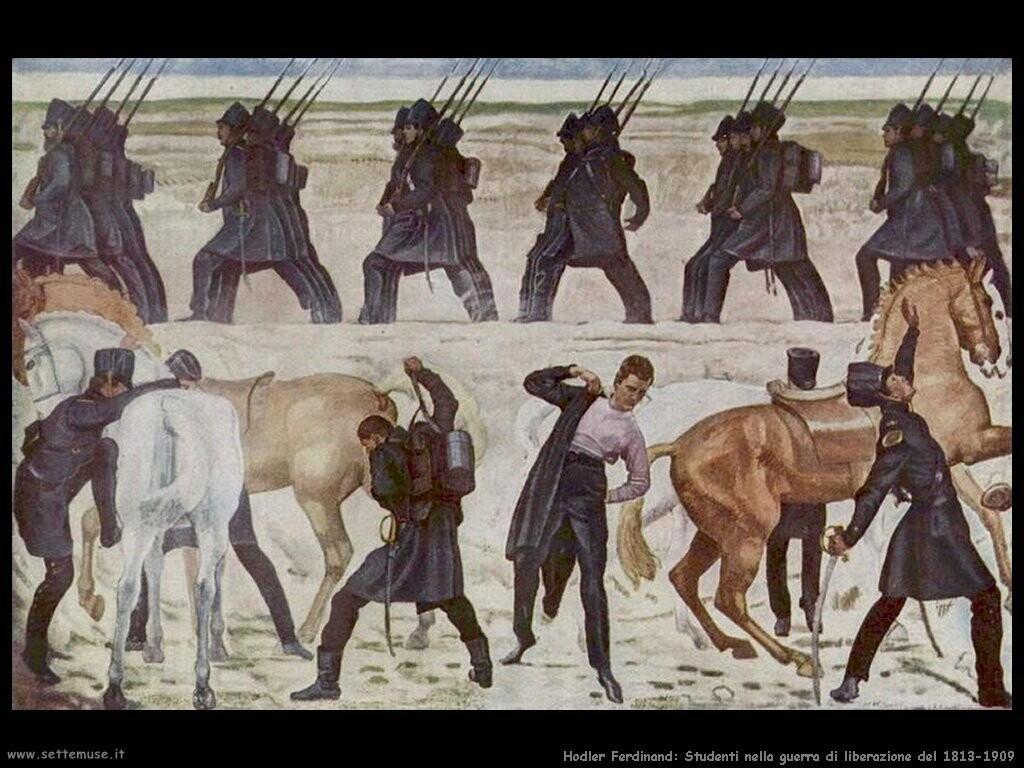 /ferdinand hodler Auszug der Jenenser Studenten in den Freiheitskrieg 1813 1909
