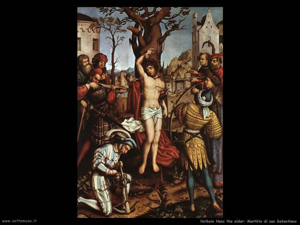 holbein hans the elder  Il martirio di san Sebastiano