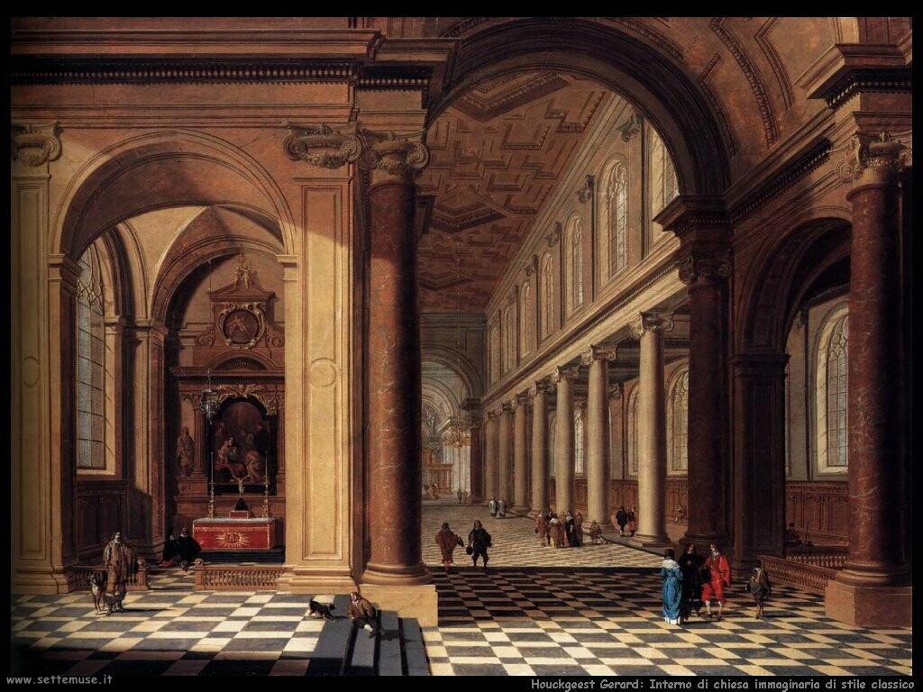 houckgeest gerard  Interno di una classica chiesa cattolica immaginaria