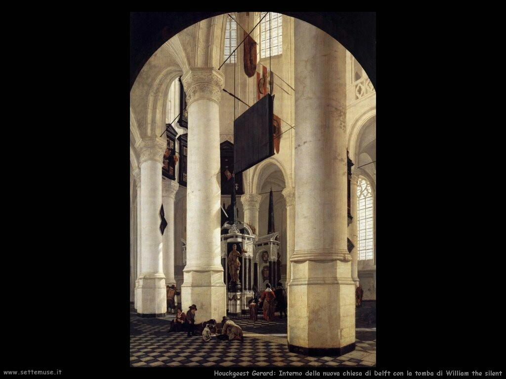houckgeest gerard Interno della nuova chiesa in Delft con tomba di William the silent