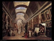 hubert robert  Disegno per la Grande Galerie
