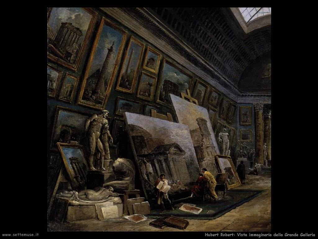 hubert robert Vista immaginaria della Grande Galerie