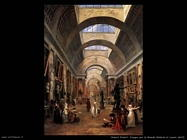 hubert robert Disegno per la Grande Galerie nel Louvre (dett)