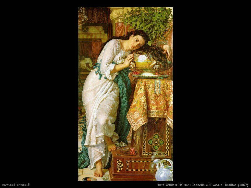 hunt_william_holman Isabella e il vaso di basilico (1867)