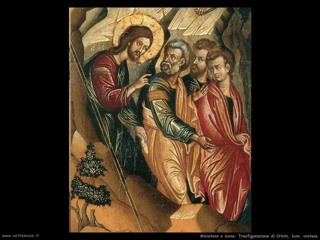 trasfigurazione cristo cretese dettaglio