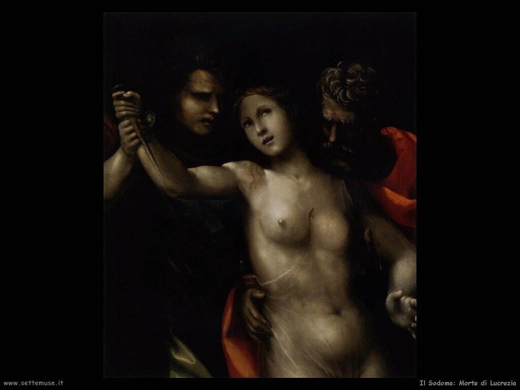 il sodoma La morte di Lucrezia