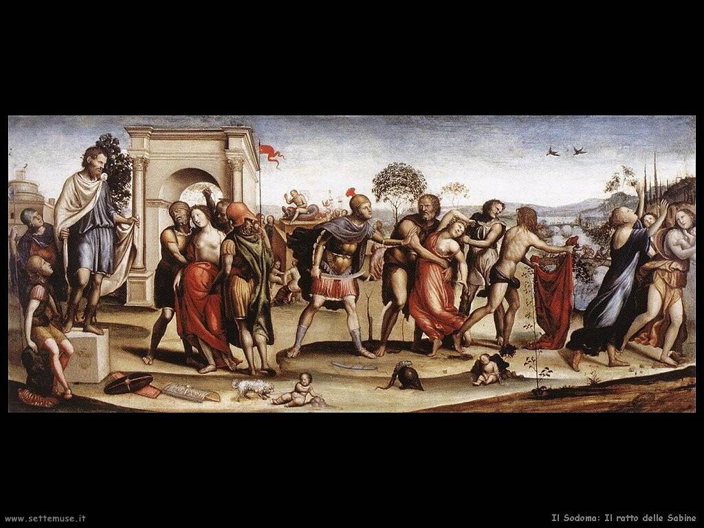 il sodoma  Il ratto delle sabine