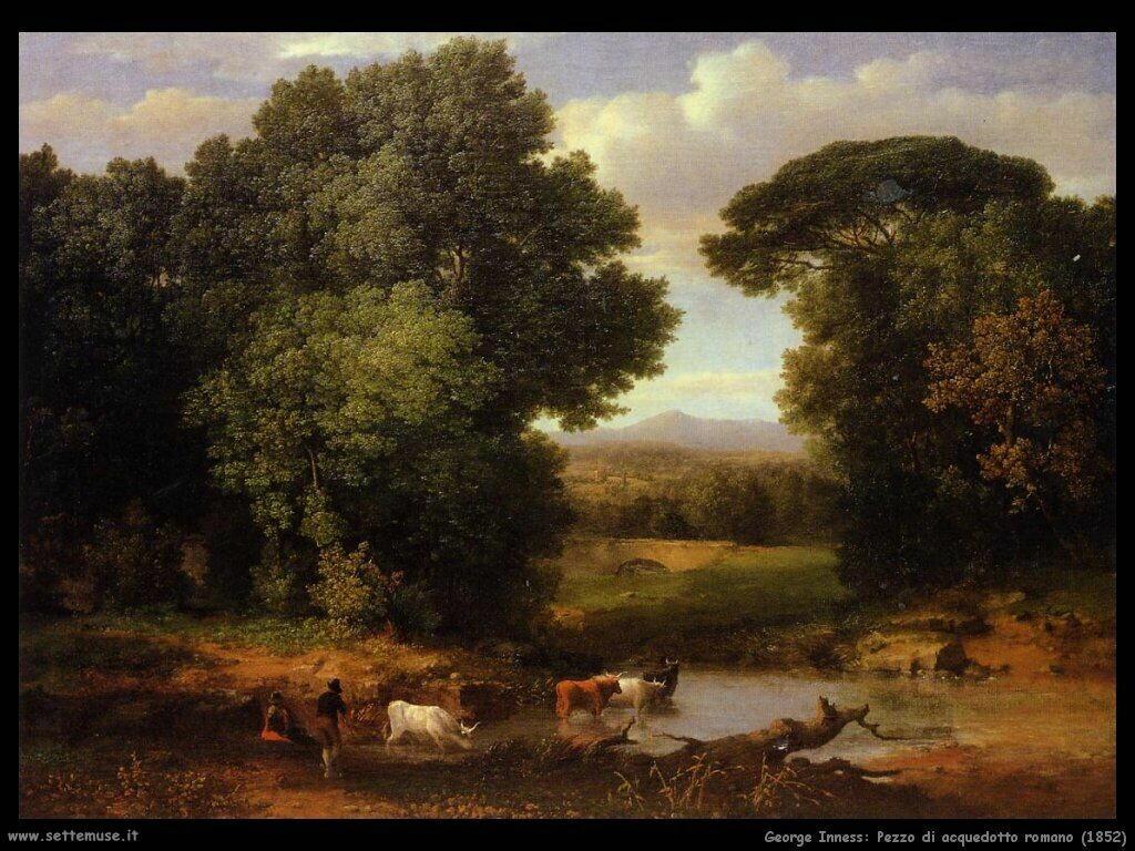 inness george Pezzo di acquedotto romano (1852)
