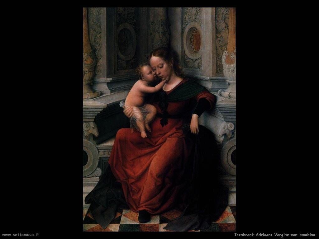 isenbrant adriaen Vergine con bambino