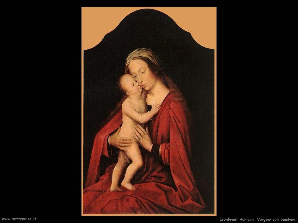 isenbrant adriaen  Vergine e bambino