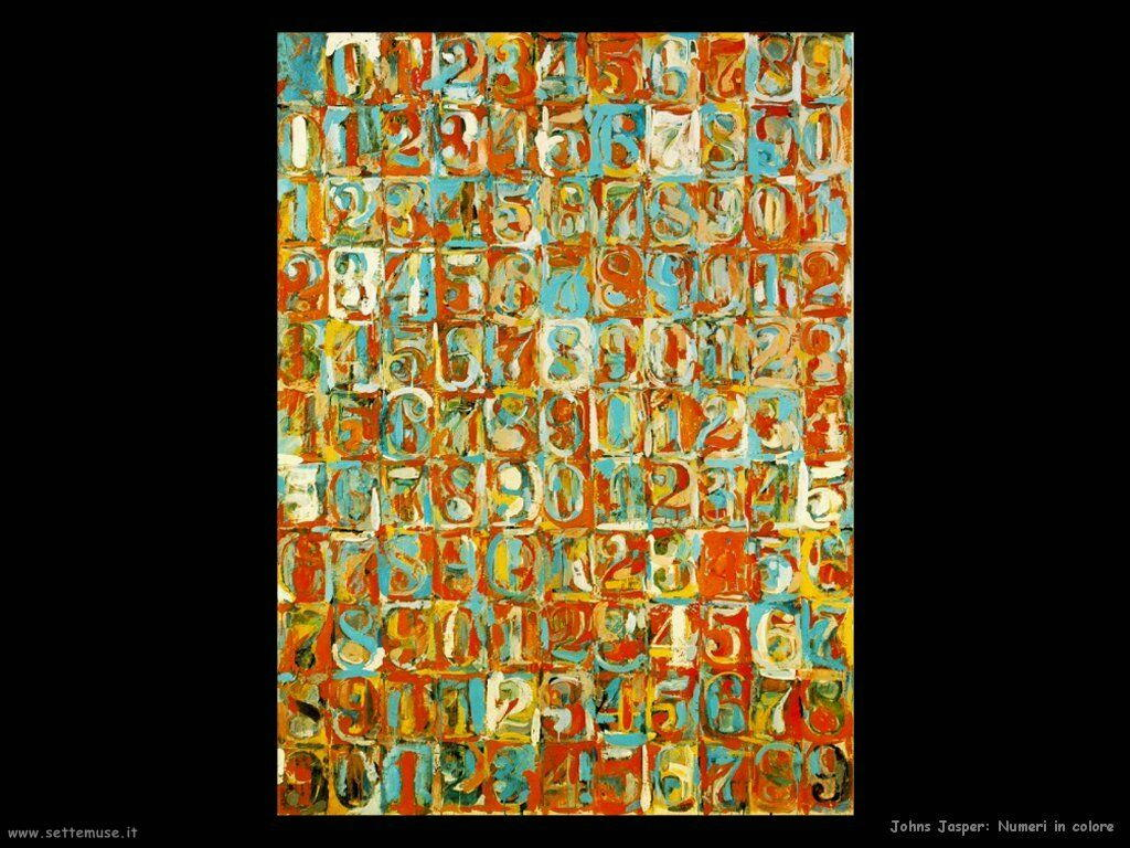 Jasper Johns: Numeri in colore