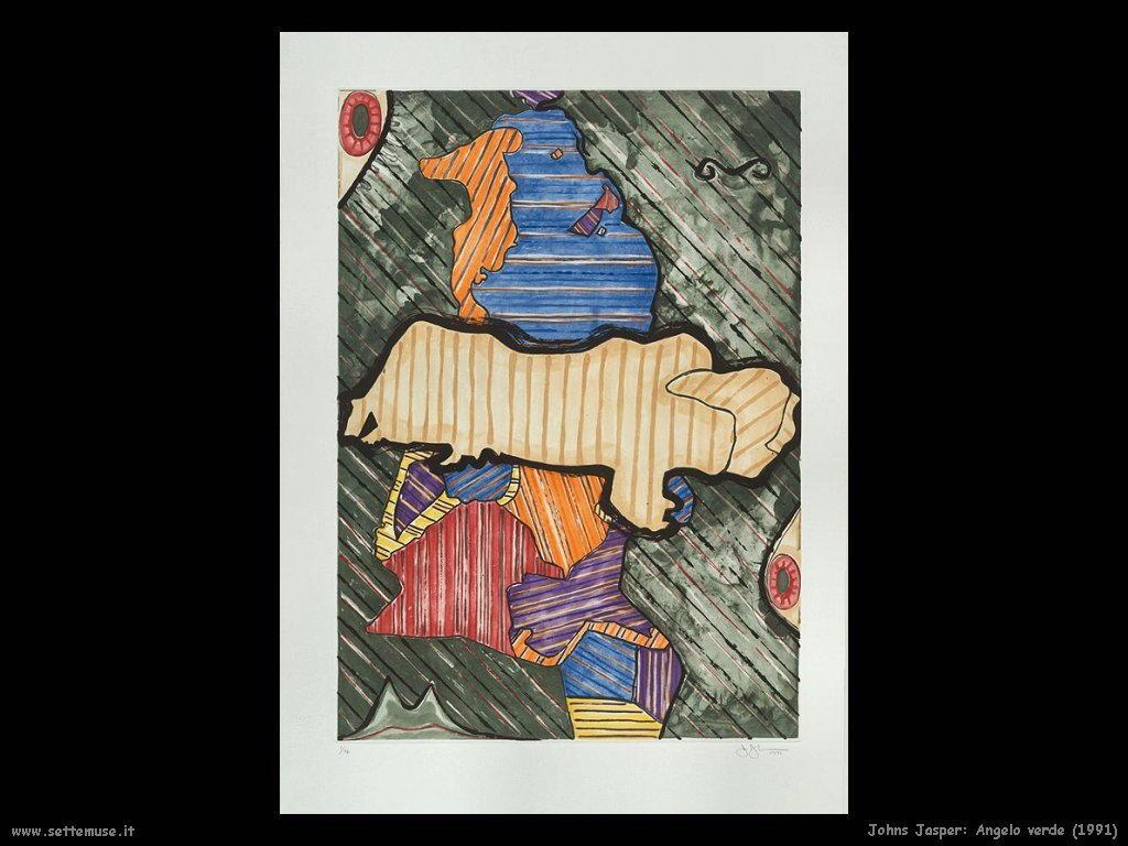 Jasper Johns: Angelo Verde (1991)