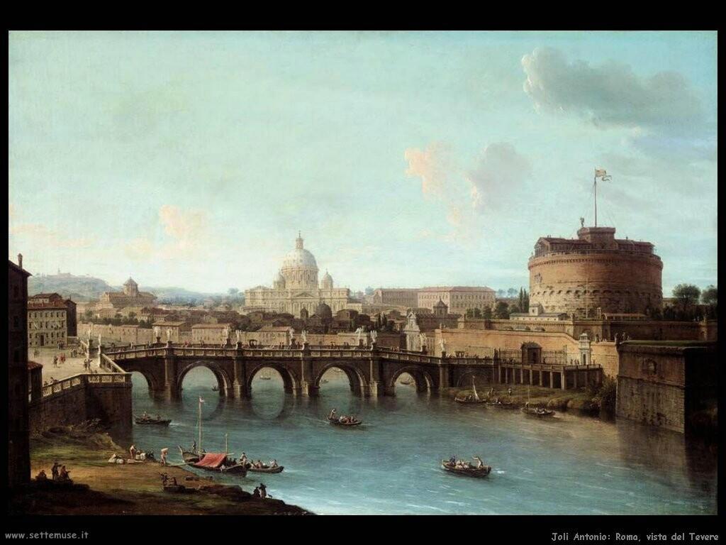 joli antonio Roma vista del Tevere