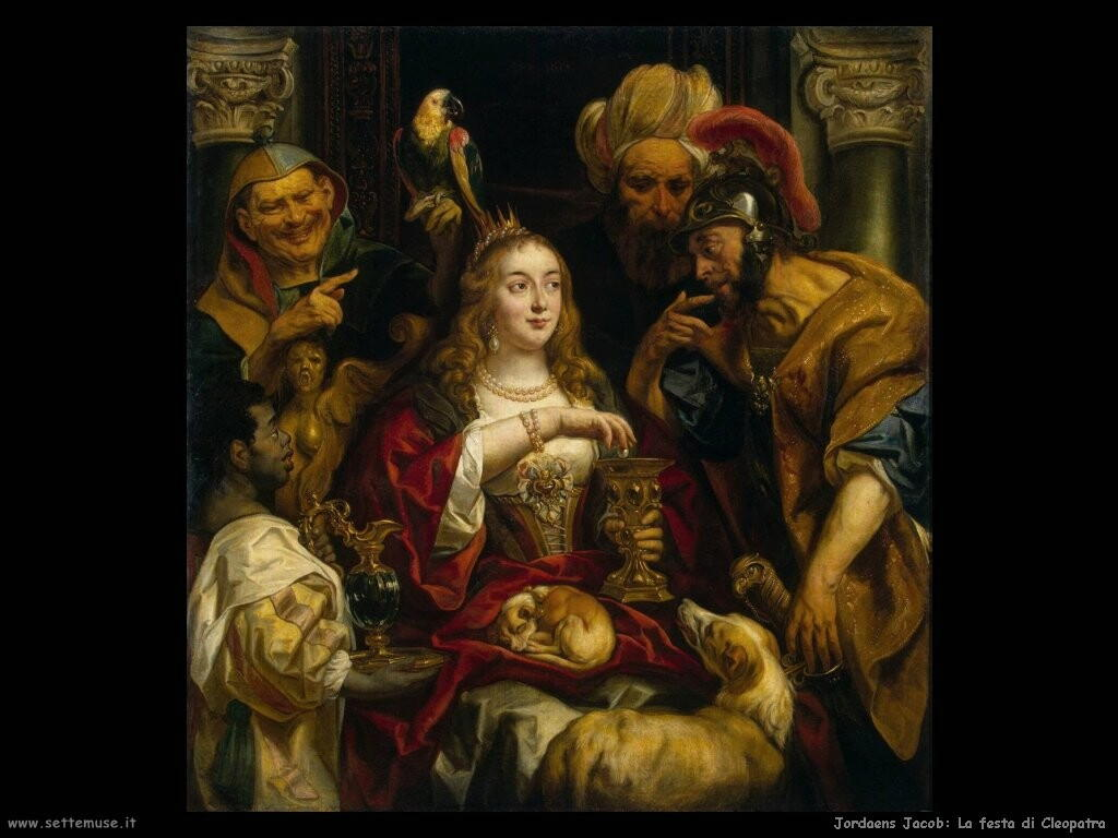 ordaens jacob  La festa di Cleopatra