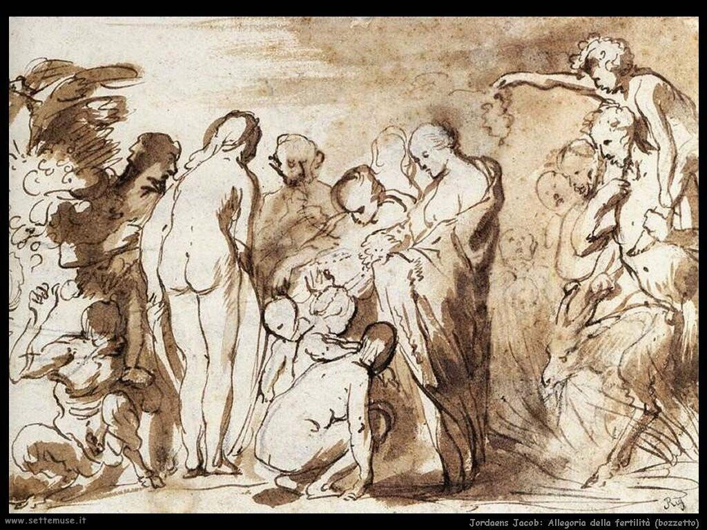 jordaens jacob  Allegoria della fertilità (Bozzetto)
