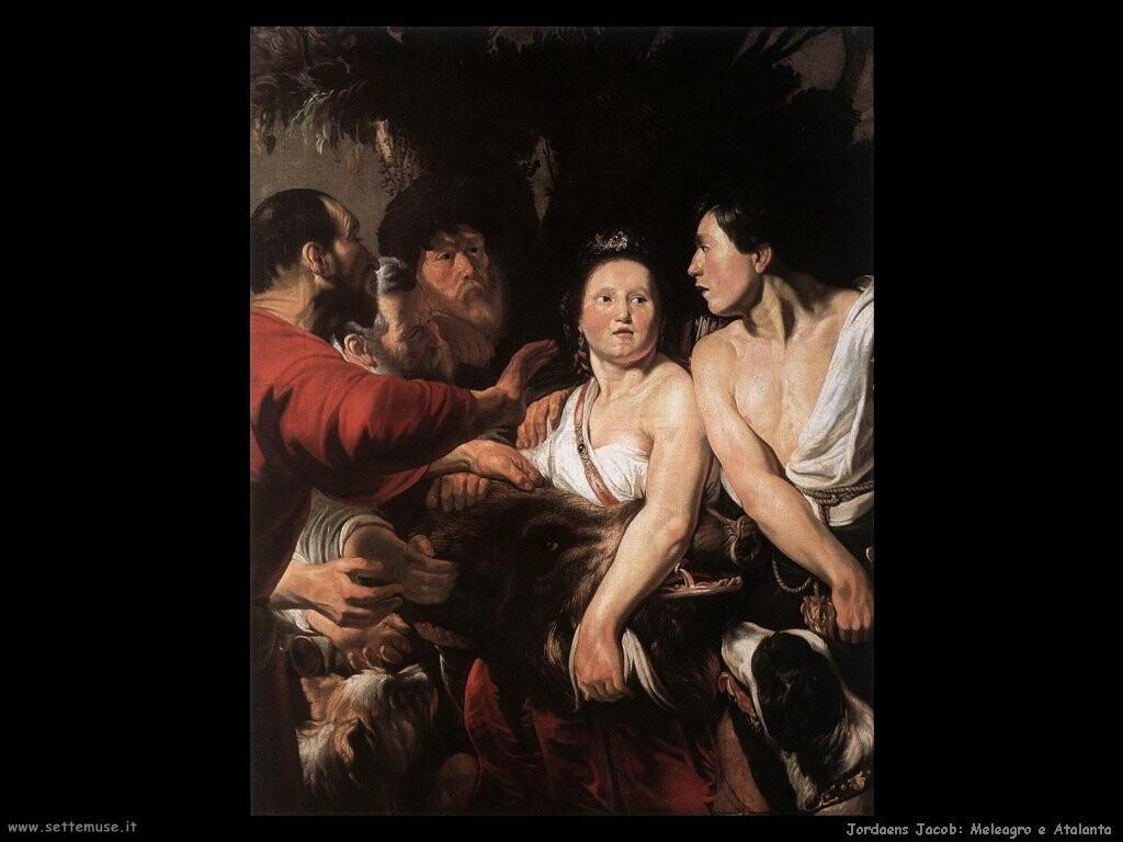 jordaens jacob Meleagro e Atalanta