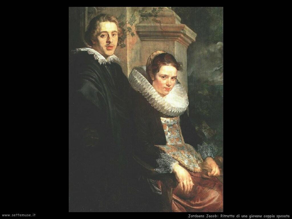 jordaens jacob Ritratto di una giovane coppia sposata