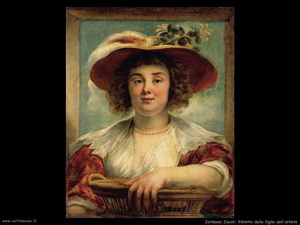 jordaens jacob Ritratto della figlia dell'artista
