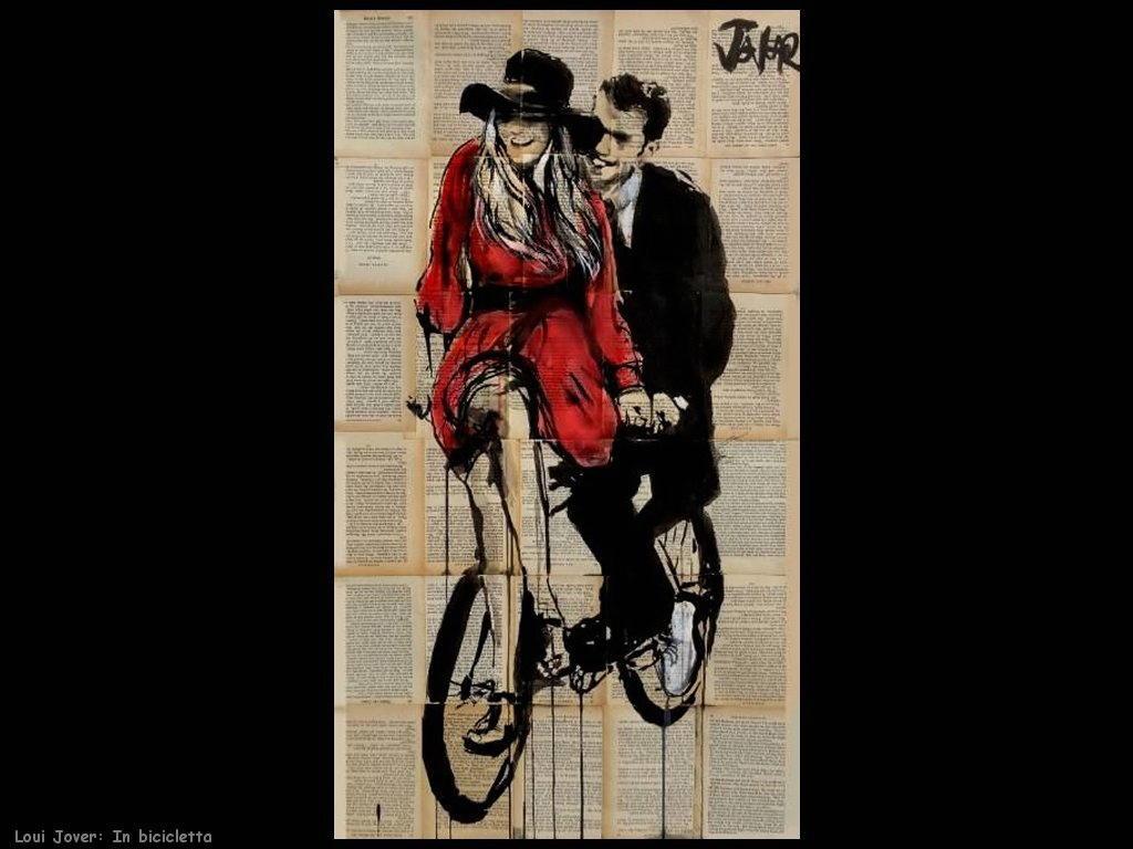 loui jover in bicicletta