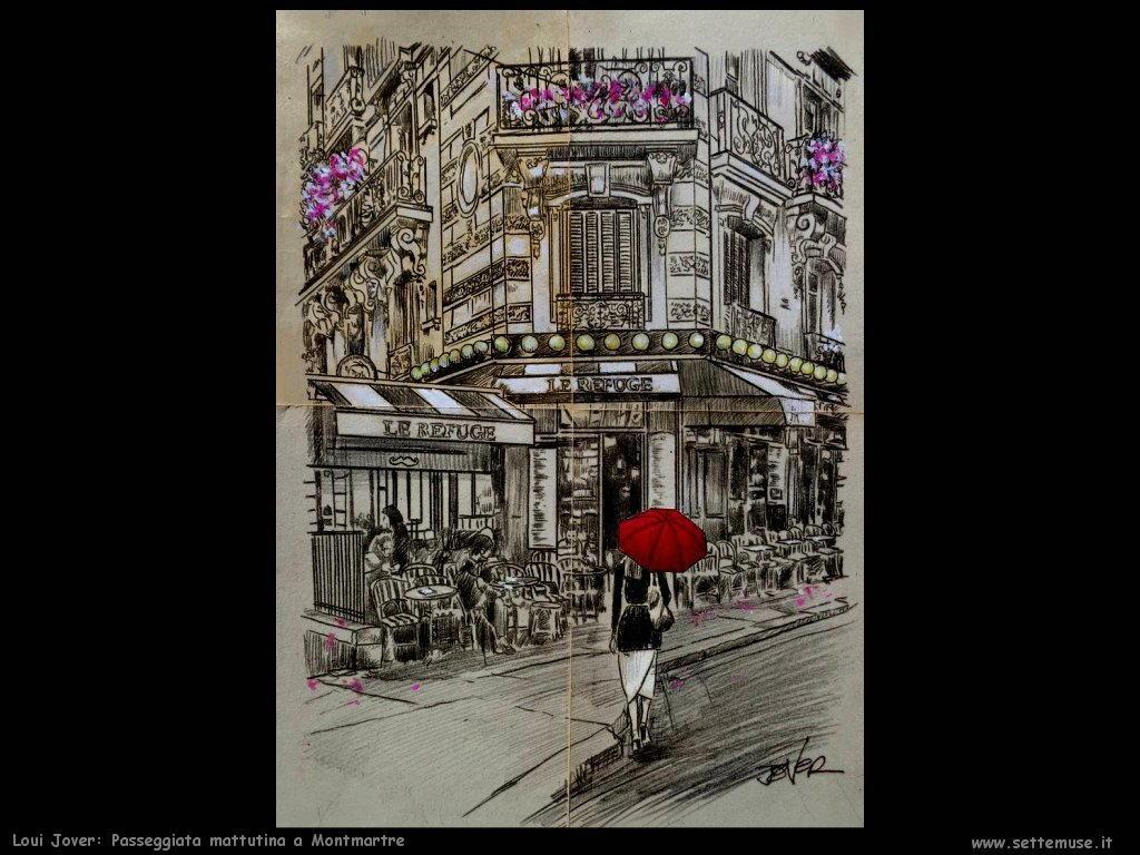 loui jover passeggiata mattutina a Montmartre