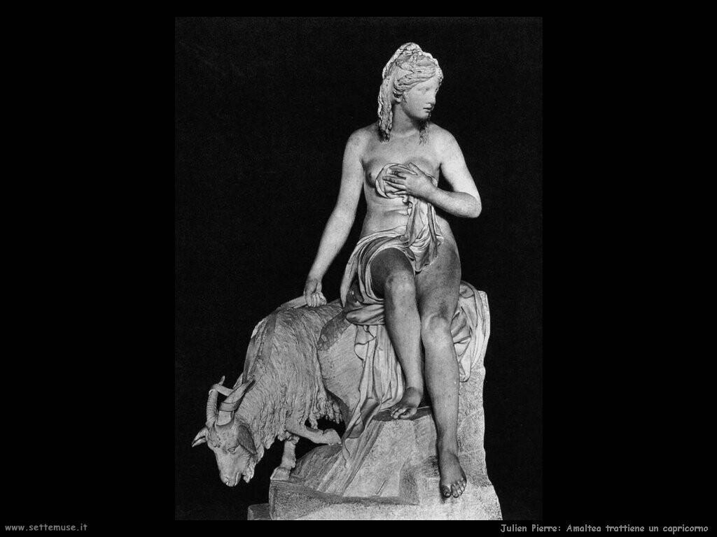 julien pierre Amaltea trattiene un capricorno