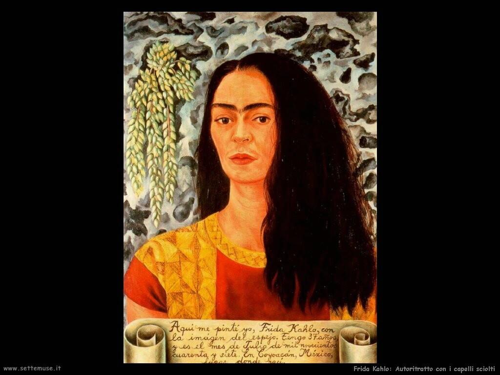 frida kahlo Autoritratto con i capelli sciolti