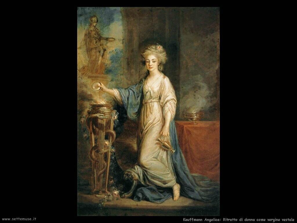 kauffmann angelica Ritratto di una donna come vergine vestale