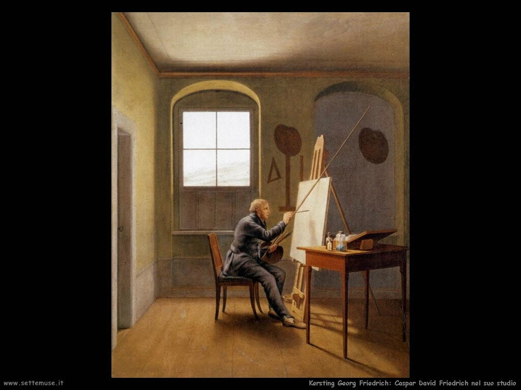 kersting georg friedrich   caspar david friedrich nel suo studio