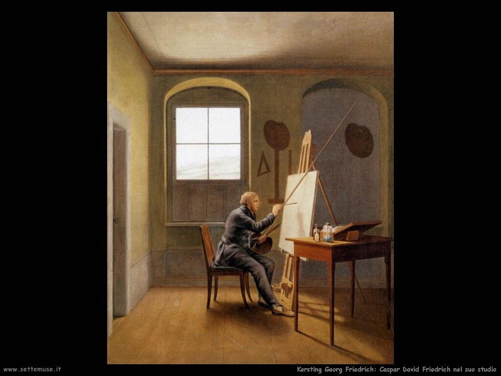 kersting georg friedrich   caspar david friedrich nel suo studio