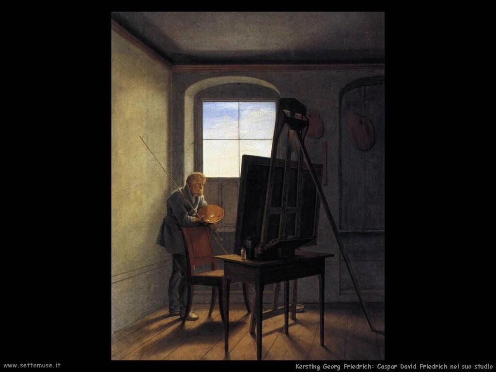 kersting georg friedrich caspar_david_friedrich nel suo studio