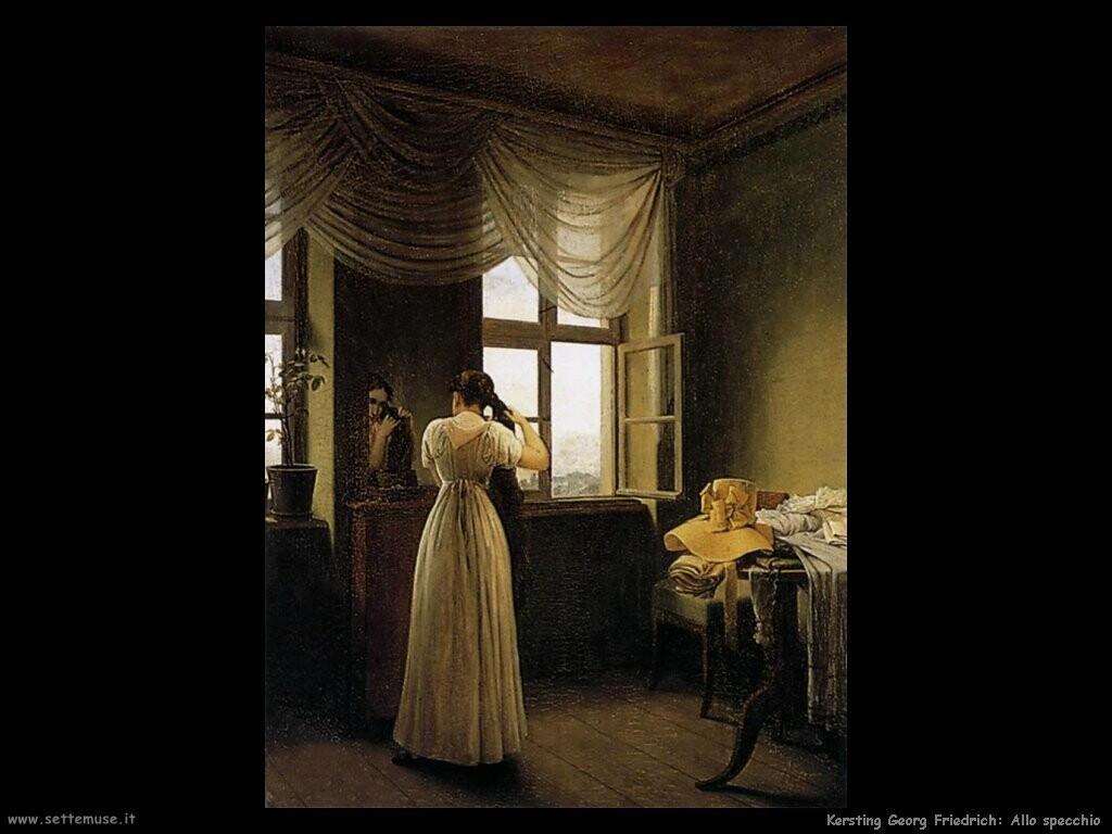kersting georg friedrich allo specchio