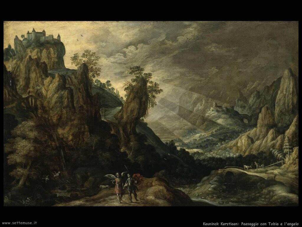 keuninck kerstiaen Paesaggio con Tobia e l'angelo